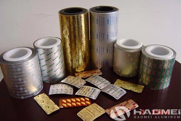 aluminium foil used in pharmaceuticals
