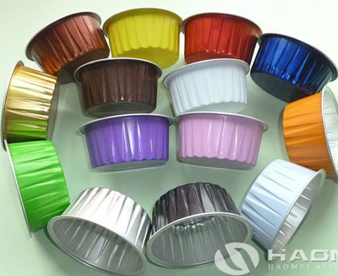 color coated aluminium foil for food container