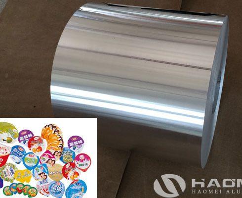 aluminum foil for yogurt packaging