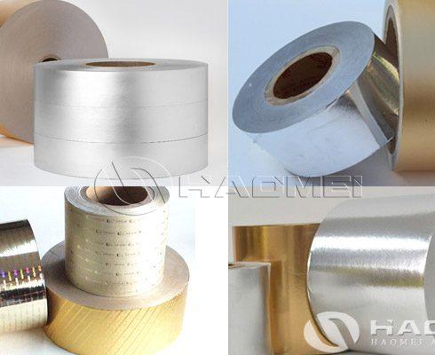 cigarette gold aluminium foil