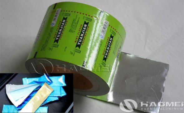 chewing aluminum foil