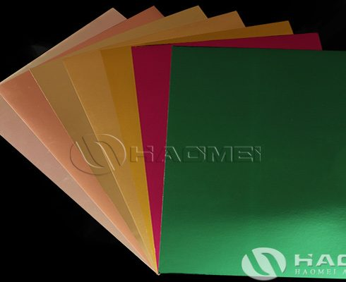 color aluminum foil paper